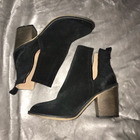 0fe24ee5e3c Black Suede Scout Heels